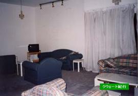 アパートの一室。ハイクラスの住居とは聞いていないが日本のマンションに比べると広く、各部屋も大ぶり